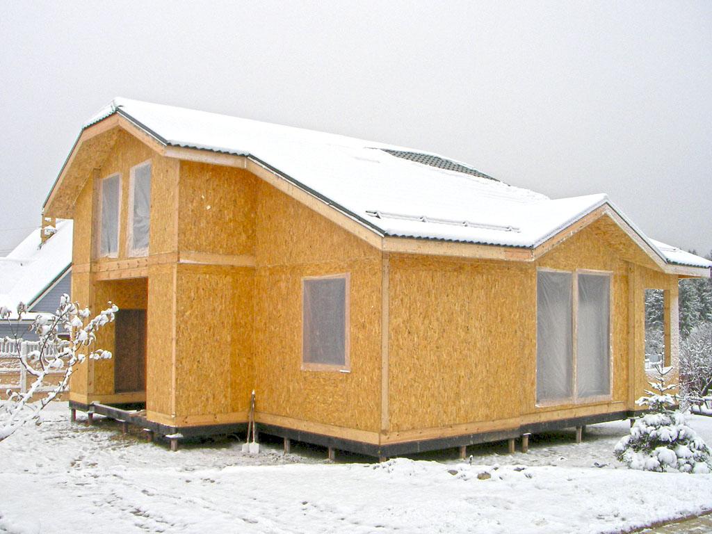 Дома из СИП панелей фото