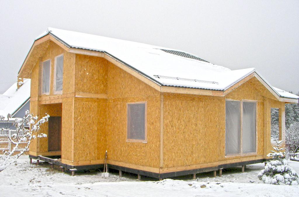 Оптимальное время для строительства канадского дома. Дома СИП фото и цены