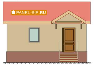 Сип-дом «Соло» 6х4- 24 кв.м. фасад1