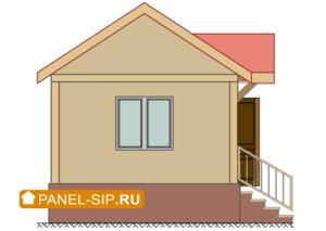 Сип-дом «Соло» 6х4- 24 кв.м. фасад5