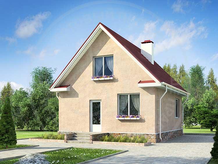 Дом из СИП панелей 60 кв м