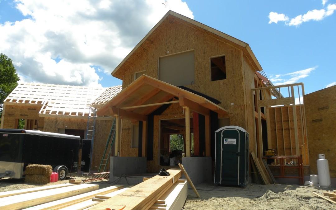 Строительство дома по канадской технологии. Дешевые дома из панелей