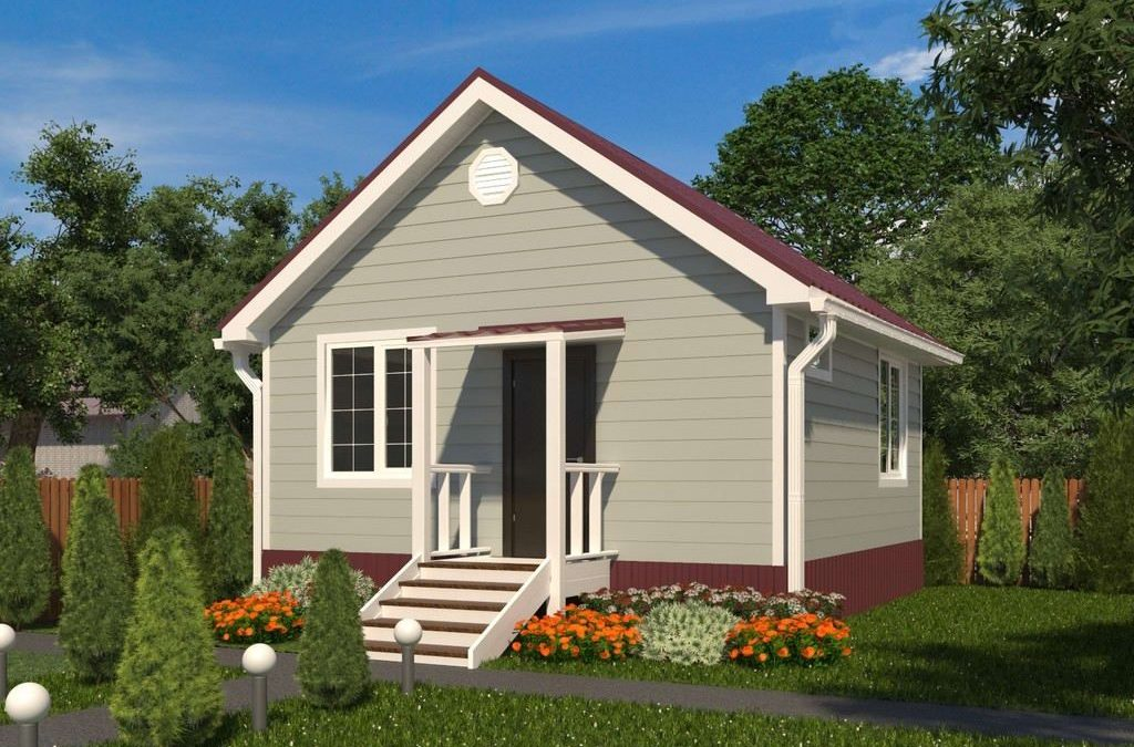 Дачный дом из СИП панелей 6 на 6