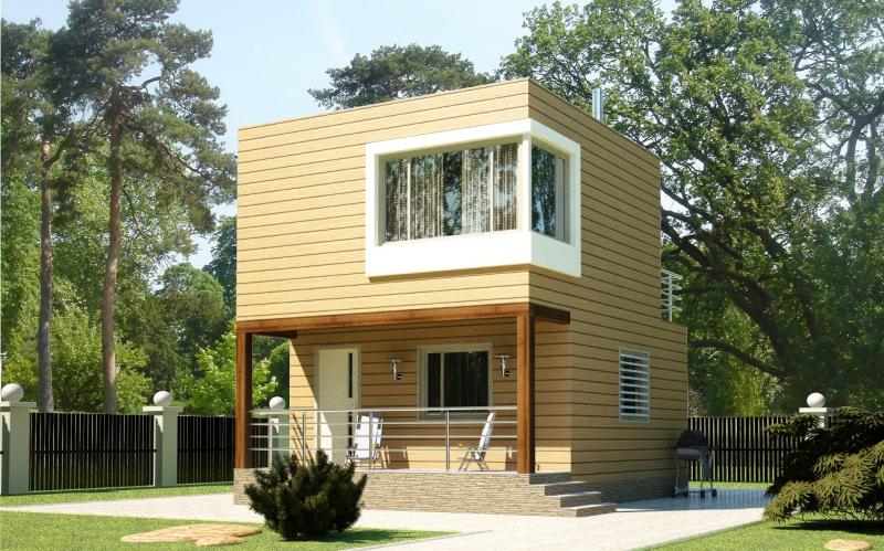 Садовый дом из СИП панелей