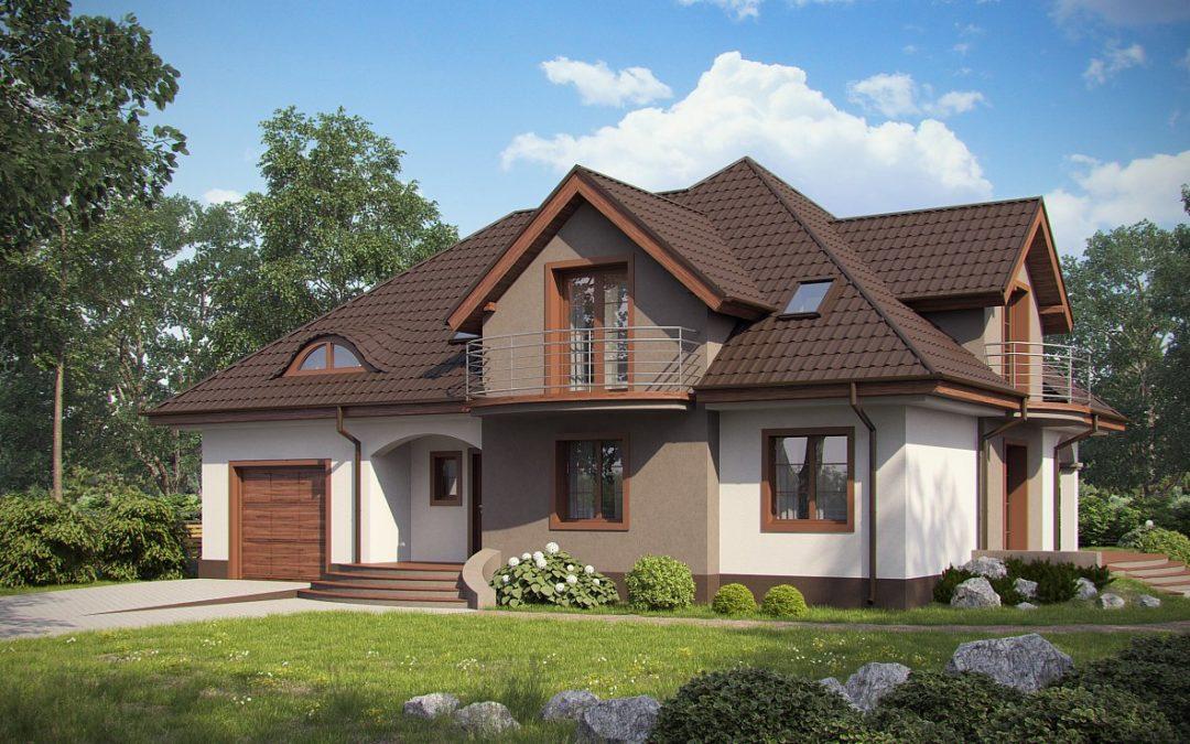 Дом из СИП панелей со встроенным гаражом