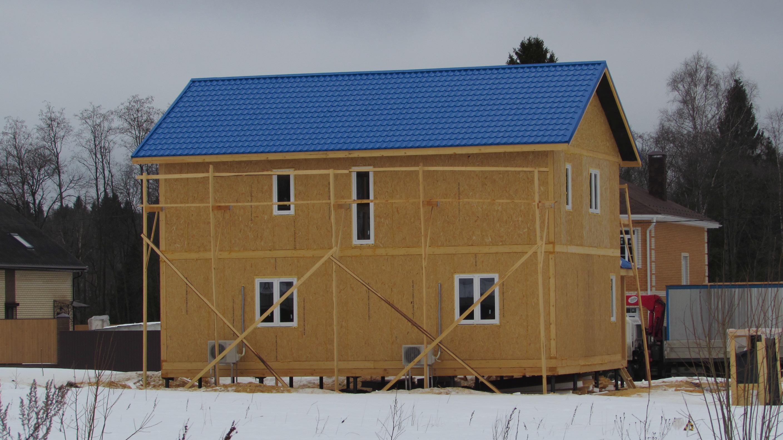 Строительство 2х этажного дома из панелей сип панель сип.