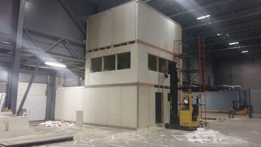Строительство офиса на территории склада