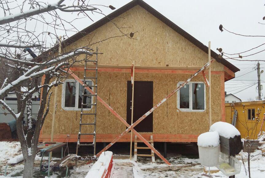 Строительство СИП дома «Трио» с навесом для машины