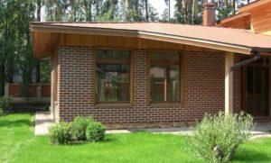 Дом из СИП панелей обложенный кирпичом