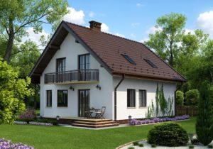 Проект дома с мансардой до 170 кв.м