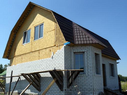 Как обложить кирпичом дом из СИП панелей?