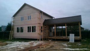 Строительство дома из сип-панелей по индивидуальному проекту_Татариново