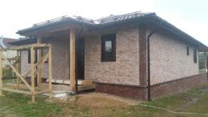 Внешняя отделка дома фиброцементной плиткой Каньон, вентилируемый фасад