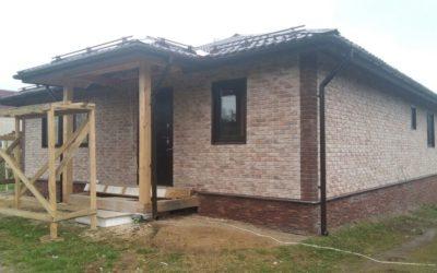Внешняя отделка дома фиброцементной плиткой «Каньон», вентилируемый фасад