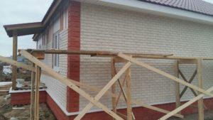 Внешняя отделка фасадов фиброцементной плиткой Каньон_Котово