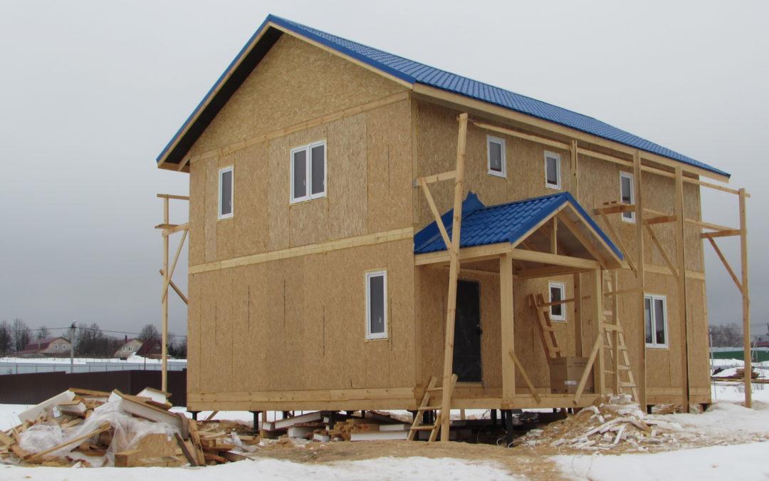 Строительство 2х этажного дома из панелей СИП